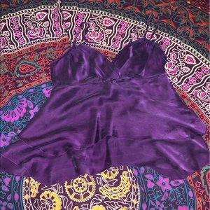 To The Max purple 100% silk top